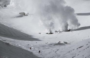 dav et pat riding cratere volcan ASAHI 2291m 3