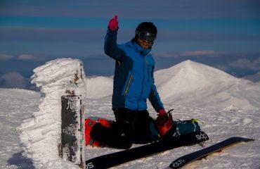 mathieu sommet du Mt ASAHI 2291m_